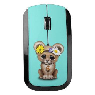 かわいいヒッピーのライオンの子 ワイヤレスマウス