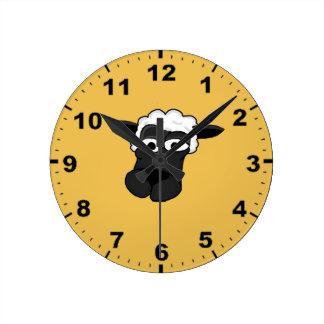 かわいいヒツジのデザインの柱時計 ラウンド壁時計