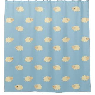 かわいいヒツジパターンシャワー・カーテン シャワーカーテン