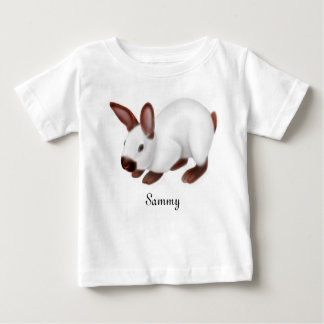 かわいいヒマラヤバニーウサギのベビーのワイシャツ ベビーTシャツ