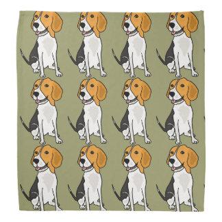 かわいいビーグル犬のハウンドドッグのバンダナ バンダナ