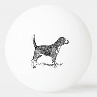 かわいいビーグル犬エレガントな犬のスケッチ 卓球ボール