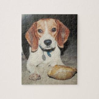 かわいいビーグル犬犬および彼のペットカメのパズル ジグソーパズル