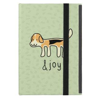 かわいいビーグル犬犬の&joy落書き iPad mini ケース