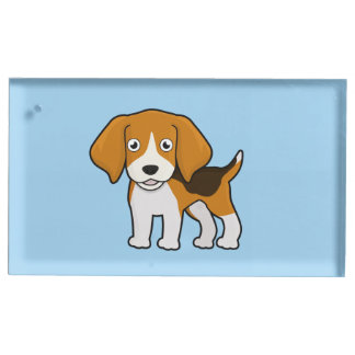 かわいいビーグル犬 テーブルカードホルダー