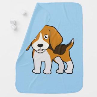 かわいいビーグル犬 ベビー ブランケット