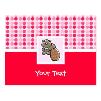 かわいいビーバー ポストカード