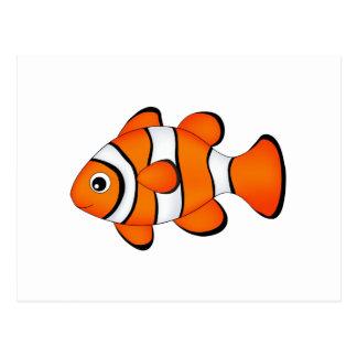 かわいいピエロの魚 ポストカード