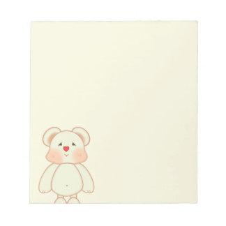 かわいいピクセルスケッチくま ノートパッド