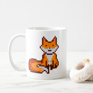 かわいいピクセル芸術のキツネ コーヒーマグカップ