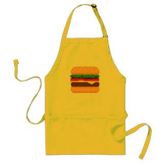 かわいいピクセル芸術のハンバーガーの時間エプロン スタンダードエプロン
