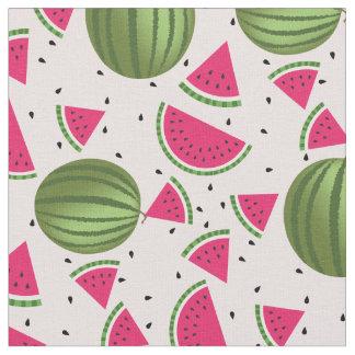 かわいいピンクおよび緑のスイカパターン ファブリック