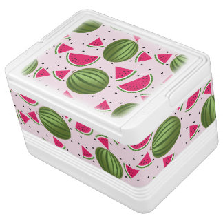 かわいいピンクおよび緑のスイカパターン IGLOOクーラーボックス