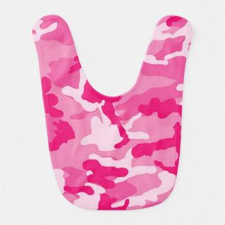 かわいいピンクのカムフラージュパターン ベビービブ