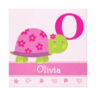 かわいいピンクのカメの児童室のキャンバスの芸術のプリント キャンバスプリント