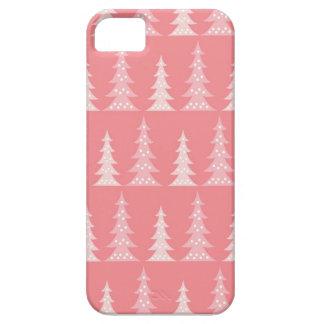 かわいいピンクのクリスマスツリーの冬のiPhone 5の場合 iPhone SE/5/5s ケース