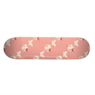 かわいいピンクのスカル 18.1CM オールドスクールスケートボードデッキ