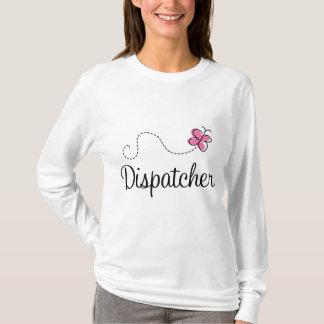 かわいいピンクのディスパッチャー Tシャツ