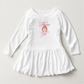かわいいピンクのハリネズミのフラワー・ガール ドレス