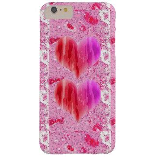 かわいいピンクのハートおよびIPHONE、iPhone/iPadの場合 Barely There iPhone 6 Plus ケース