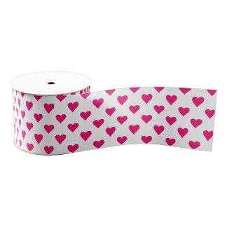 かわいいピンクのハートパターン愛 グログランリボン