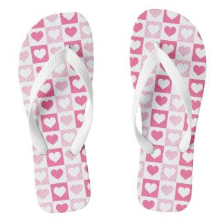 かわいいピンクのハート ビーチサンダル