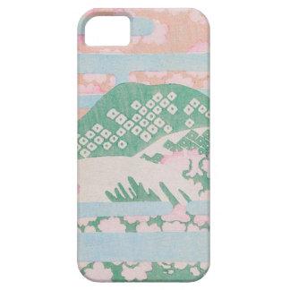 かわいいピンクのパステル調の芸術 iPhone SE/5/5s ケース