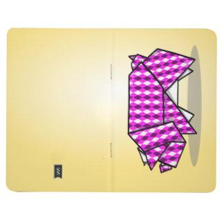 かわいいピンクのパターン(の模様が)あるなペーパーブタ ポケットジャーナル