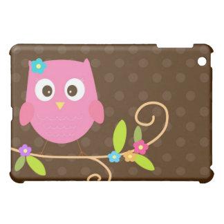 かわいいピンクのフクロウのipadカバー場合 iPad miniケース