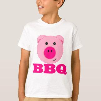 かわいいピンクのブタBBQ Tシャツ