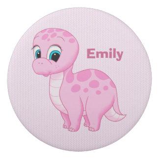 かわいいピンクのベビーのBrontosaurusの恐竜 消しゴム