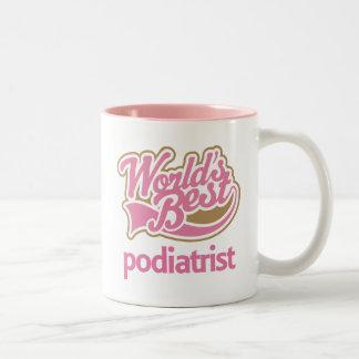 かわいいピンクの世界のベストのPodiatrist ツートーンマグカップ