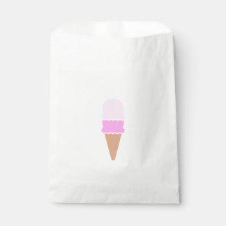 かわいいピンクの二重スコップのアイスクリームコーン フェイバーバッグ