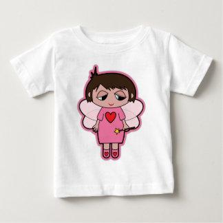 かわいいピンクの妖精 ベビーTシャツ