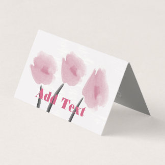 かわいいピンクの水彩画のシャクヤクの花柄の花カード カード