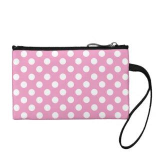 かわいいピンクの水玉模様パターン コインパース