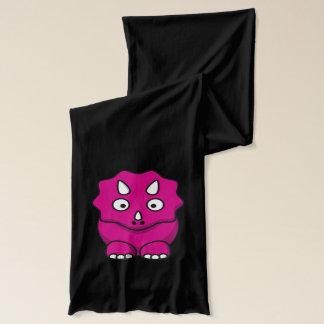 かわいいピンクの漫画の恐竜 スカーフ