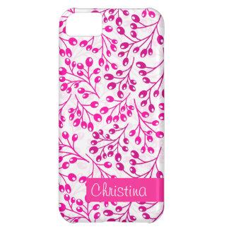 かわいいピンクの秋の果実 iPhone5Cケース