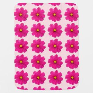 かわいいピンクの花模様のベビーブランケット ベビー ブランケット