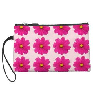 かわいいピンクの花模様の小型クラッチ クラッチ