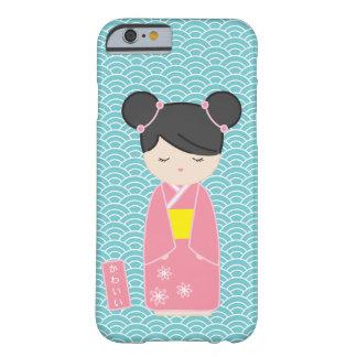 かわいいピンクのKokeshi Barely There iPhone 6 ケース