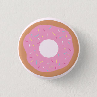 かわいいピンクドーナツはとのボタンを振りかけます 3.2CM 丸型バッジ