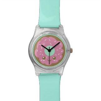 かわいいピンクドーナツ 腕時計