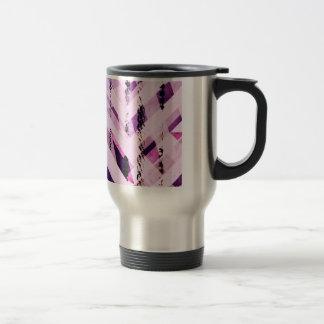 かわいいピンク及び紫色のガーリーなデザイン トラベルマグ