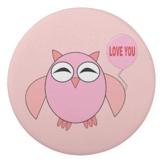 かわいいピンク愛フクロウEarser 消しゴム