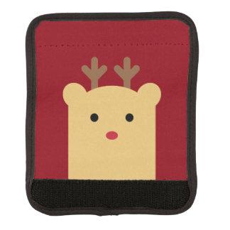 かわいいピーカーブ式トナカイの休日のラゲージハンドルラップ スーツケース ハンドルカバー