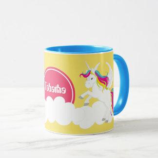かわいいファンタジーのユニコーンは一流のコーヒー・マグを加えます マグカップ