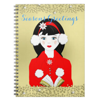 かわいいフェスティバルおよびキャロルのきらめく歌手 ノートブック
