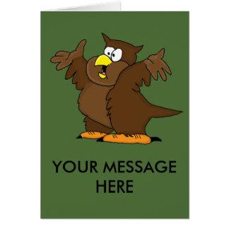 かわいいフクロウのデザインカード、郵便料金および紙プロダクト グリーティングカード