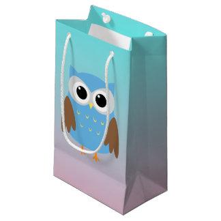 かわいいフクロウの絵 スモールペーパーバッグ